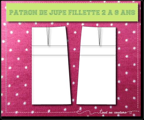 PATRON de base JUPE FILLETTE