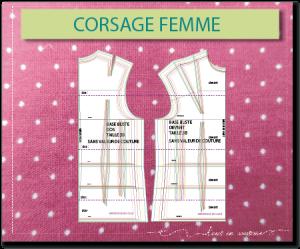 PATRON de base CORSAGE FEMME