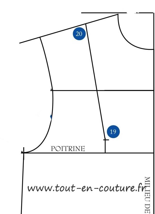tutoriel du patron du corsage de base pince bretelle 1